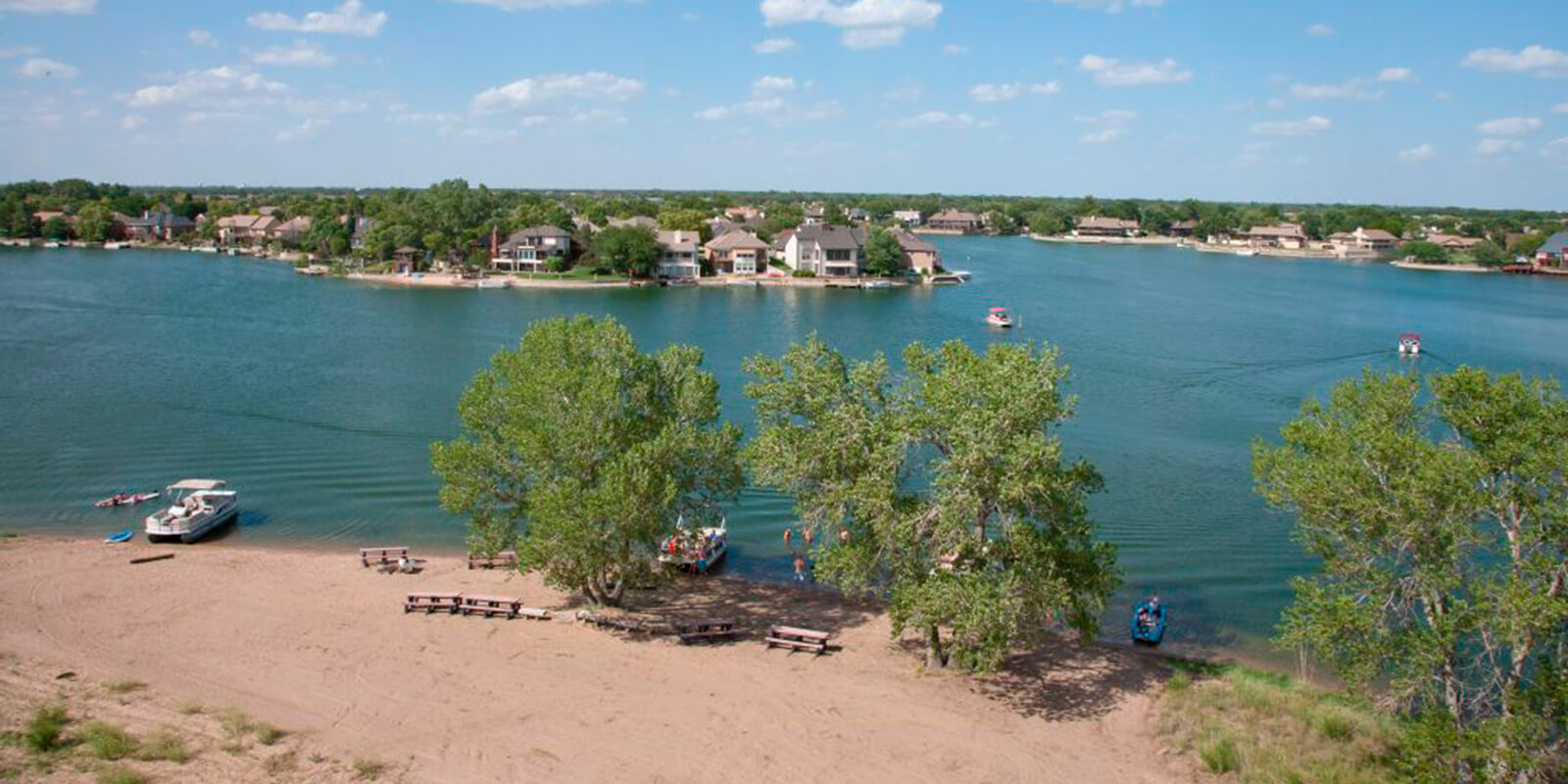 Aerial View of The Moorings Lakeside Neighborhood