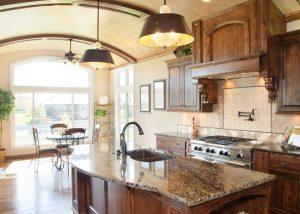 Barrel- vaulted kitchen