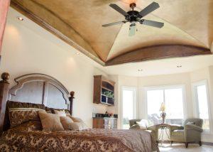 Grain-vaulted Master bedroom